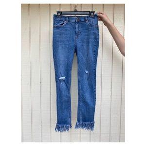 SO CUTE Fringe Jeans